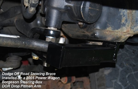 Dodge Off Road Steering Brace 3rd Gen 03 08