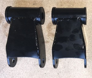 Non-adjustable 1 inch lift, sold as a pair